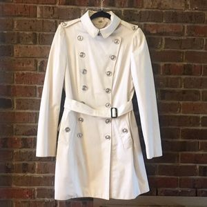 Burberry London Trench Jacket White 14